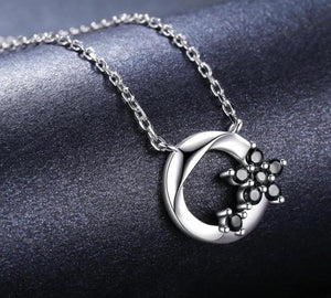 Flower Pendant Sterling Silver Necklace