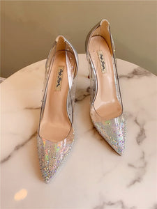 Rhinestone Stiletto Heel shoes