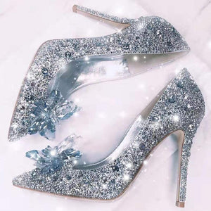 Cinderella Rhinestone High Heels Shoes