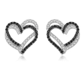 2020 New Black Awn Romantic 925 Sterling Silver Jewelry Natural  Heart Party Stud Earrings for Women Bijoux I155