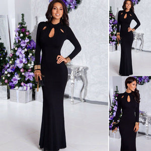 Elegant Black Evening Maxi Dress