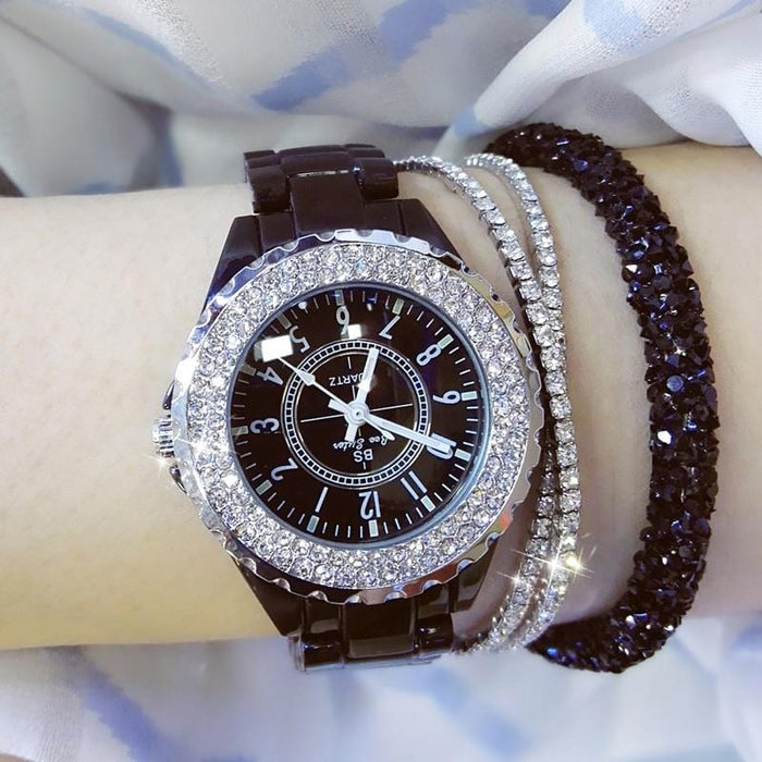 Ceramic Luxury Brand Rhinestone Watch