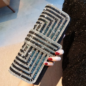 Rhinestone Crystal Sparkling Clutch Bag