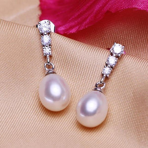 Sterling Silver Pearl studded Earring