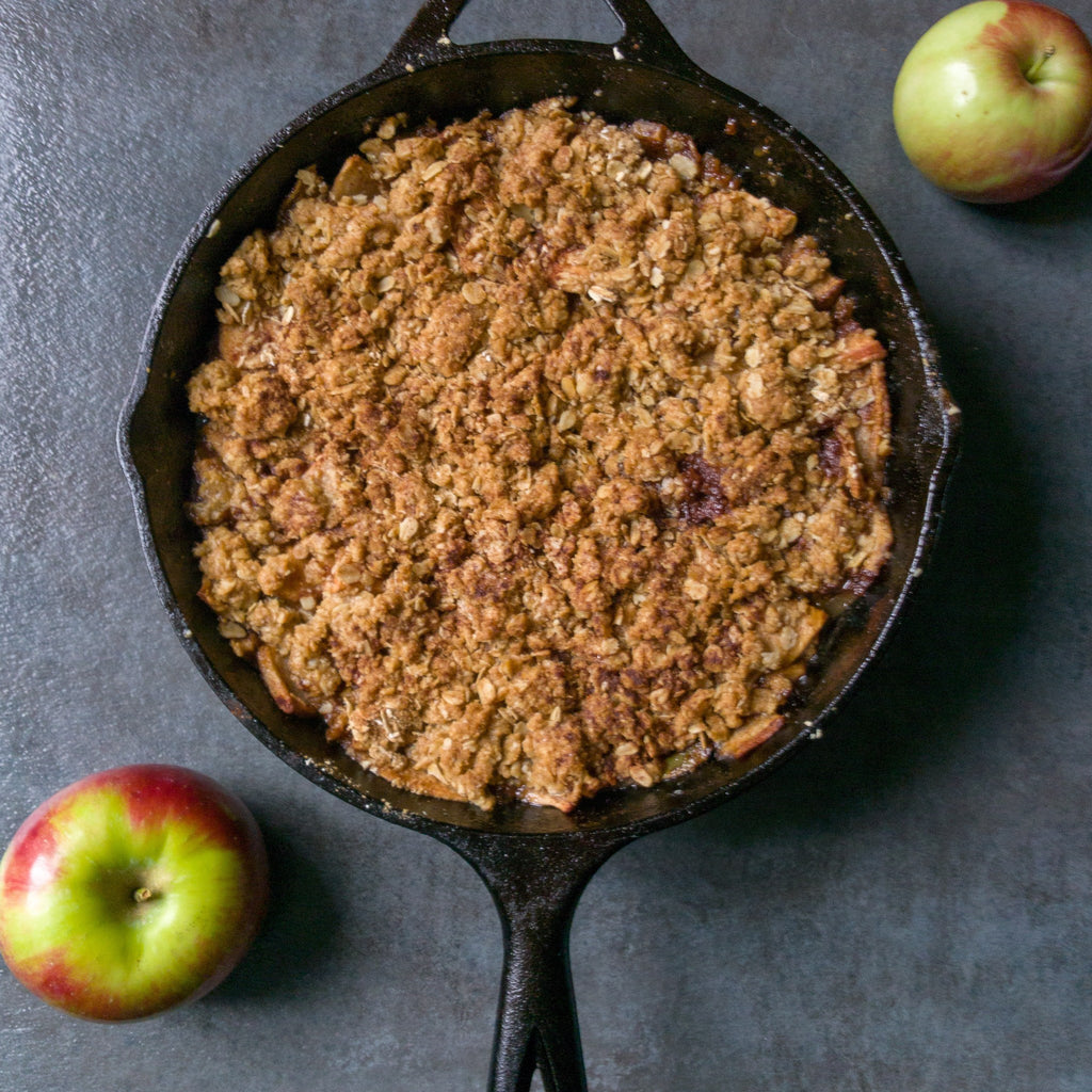 Cast Iron Apple Crisp