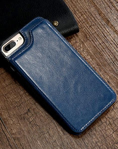 """LePragma"" Wallet Case For iPhone - Blue"