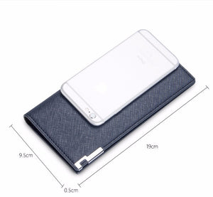 Slim Business | Split Leather Wallet - Card Holder
