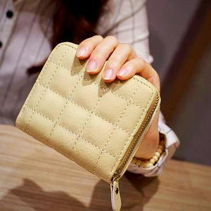 """PassionLuxe"" PU Leather Wallet - Beige"