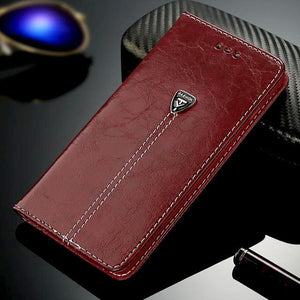 """Lion Luxury"" Vegan Leather Wallet Case - for Iphone"