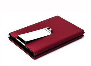 Business Lotus - Brushed Aluminium Card Holder | money cash clip