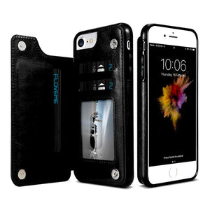 """LePragma"" Wallet Case For iPhone - Black"