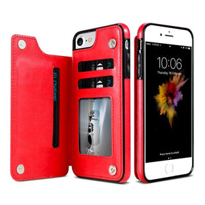 """LePragma"" Wallet Case For iPhone - Red"
