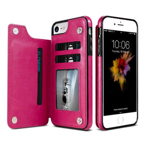 """LePragma"" Wallet Case For iPhone - Hot Pink"