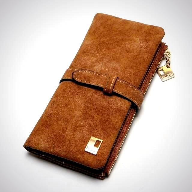 Long Design wallet  - Classic Brown