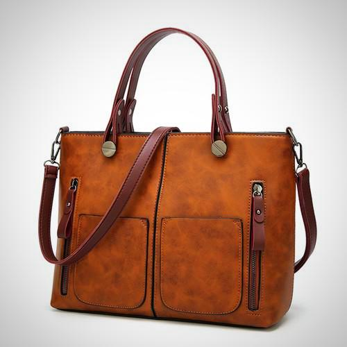 Belle Lady Faux Leather Handbag - Classic chic-