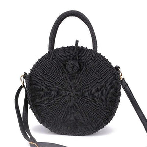 BaliBeach Round Straw Crossbody Bag