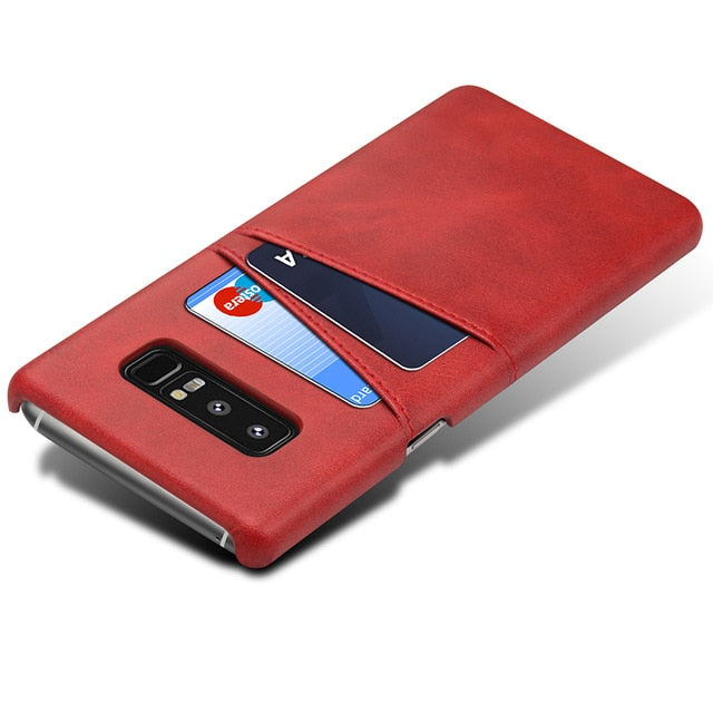 LeParfait Leather Wallet Case - For Samsung