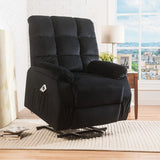 Vesper Collection Black Lift Recliner