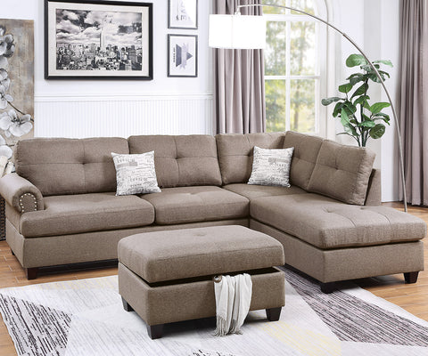 Lizette Sectional W. Free Ottoman