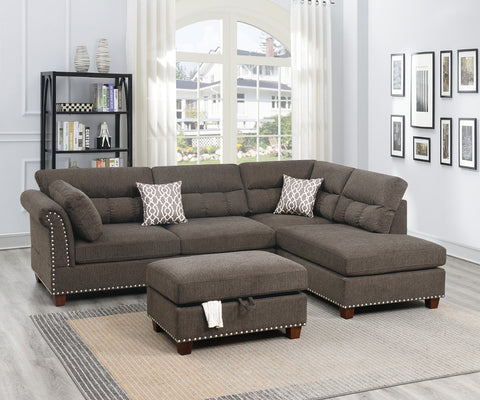 Ventura 2pc Sectional w. free ottoman