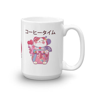 amazonetworks 15oz Japanese Cat Mug