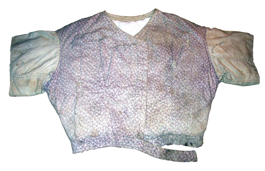 Archaeology in 5 pictures, no. 5: Cotton bodice in purple print from Hyde Park Barracks, Sydney, 19th century