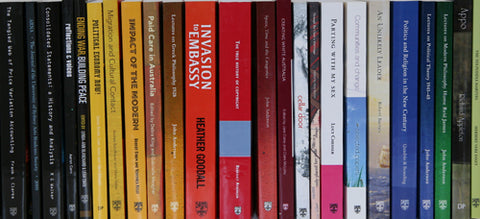 A selection of SUP books shown by spine
