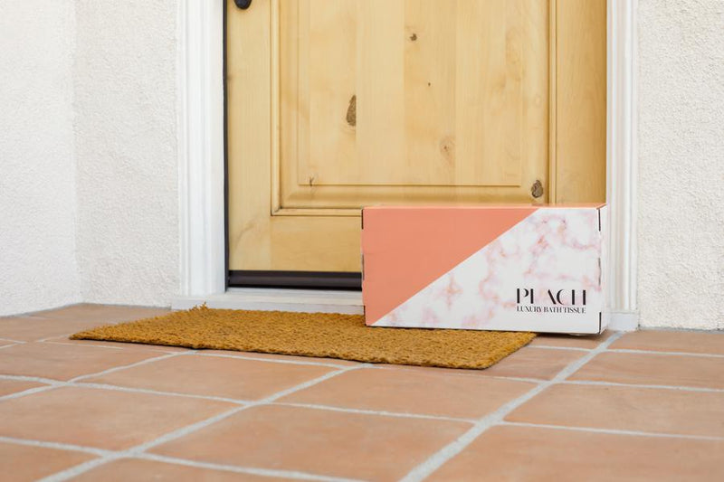 Peach Luxury Bath Tissue Monthly Delivery