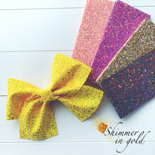 7 inch Glitter Cheer Bows