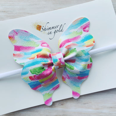 Brush Strokes Butterfly Bow