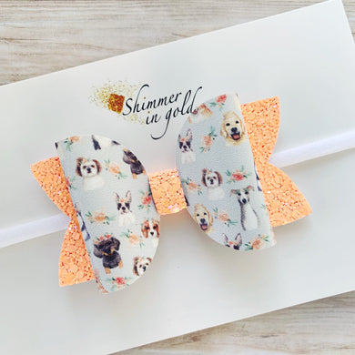 Floral Pups Lainey Bow