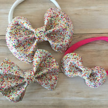 Birthday Sprinkles Specialty Glitter Bow