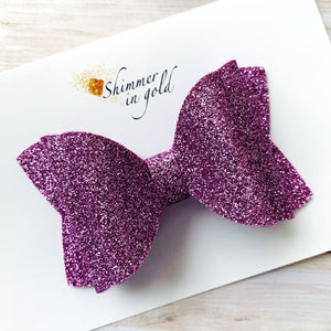 Orchid Felt Double Layered Signature Bow