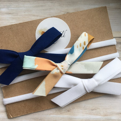 Set of Three Premium Abstract Art Bows