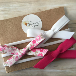 Set of Three Spring Floral Bows