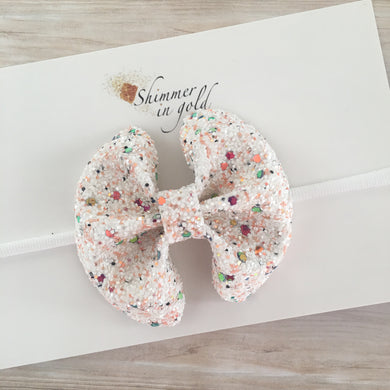 Ice Cream Shoppe Specialty Glitter Bow