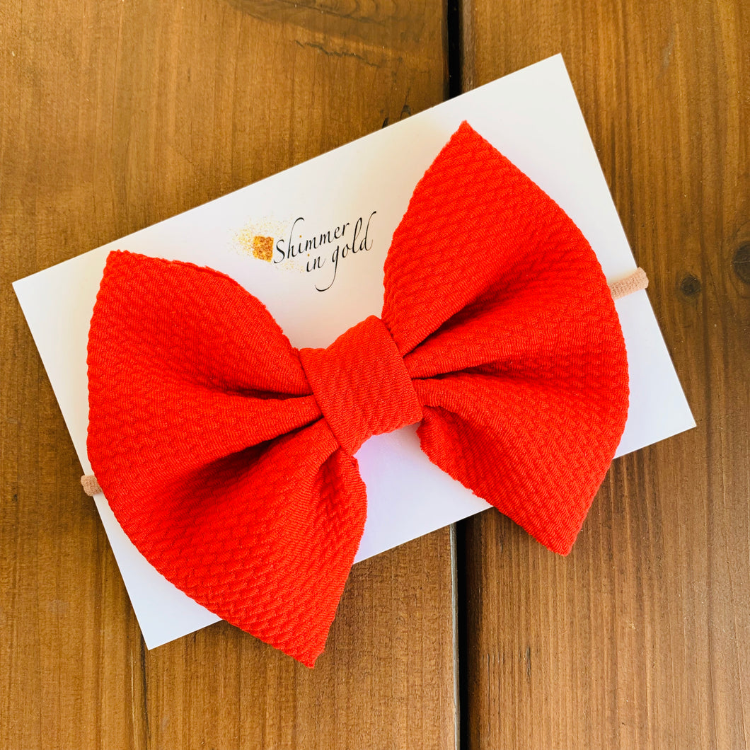 Messy Red Liverpool Bow (5 inches wide)