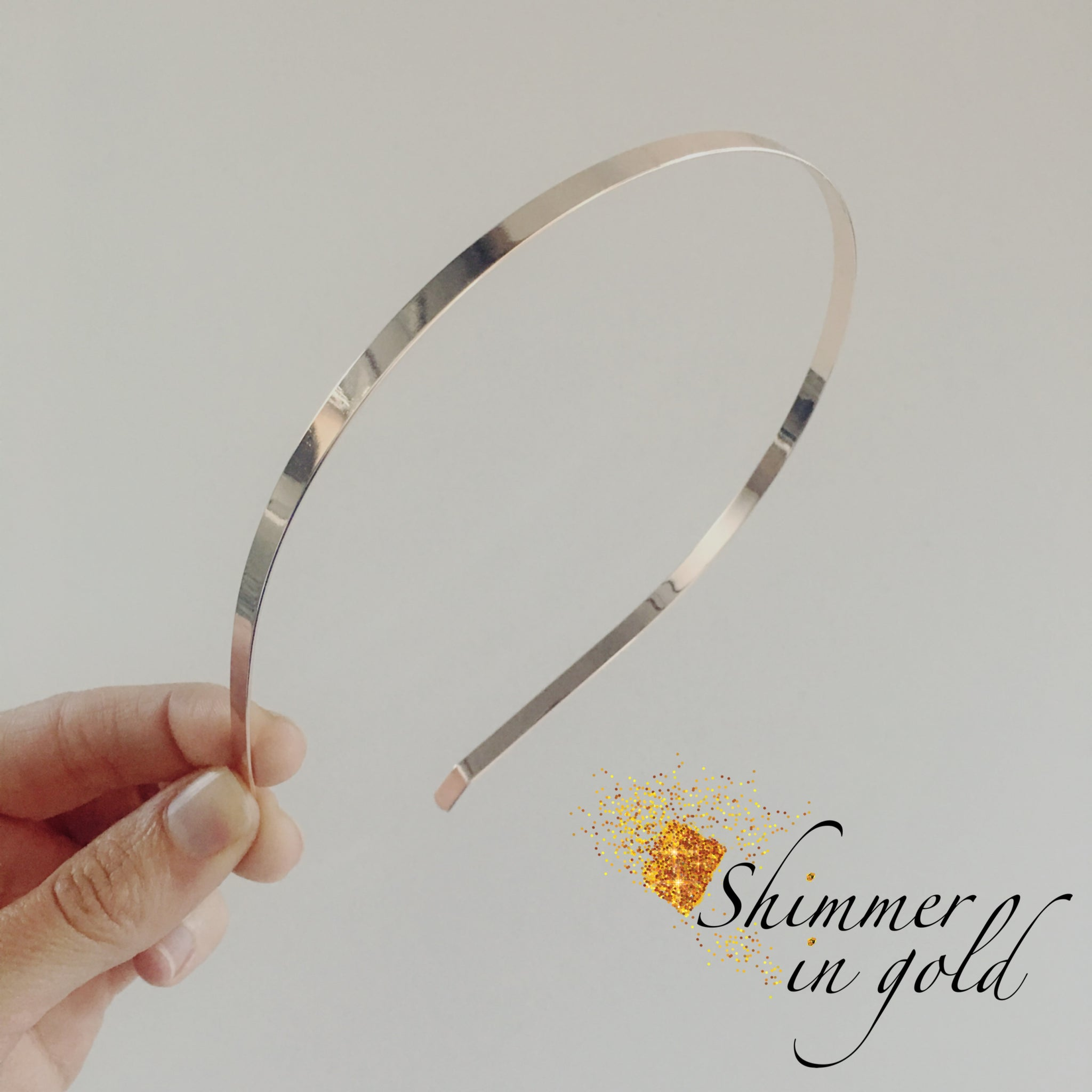 Add bow to Rose Gold Metal Headband – Shimmer In Gold LLC e0938737bf7