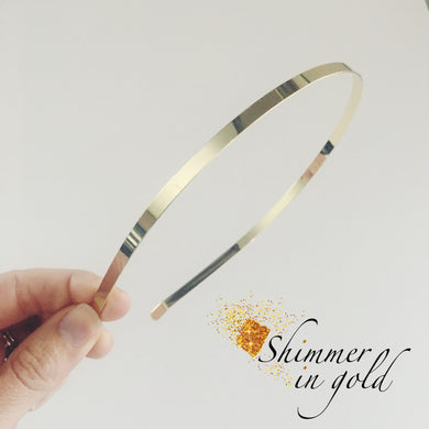 Add bow to Gold Metal Headband