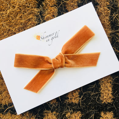 Ginger Hand Tied Velvet Bow