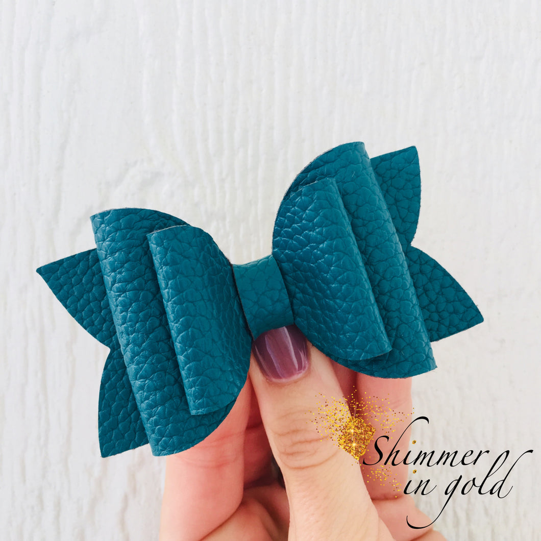 Teal Layered Lainey Bow