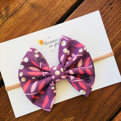 Fall Floral Fabric Bow