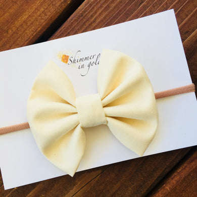Cream Fabric Bow