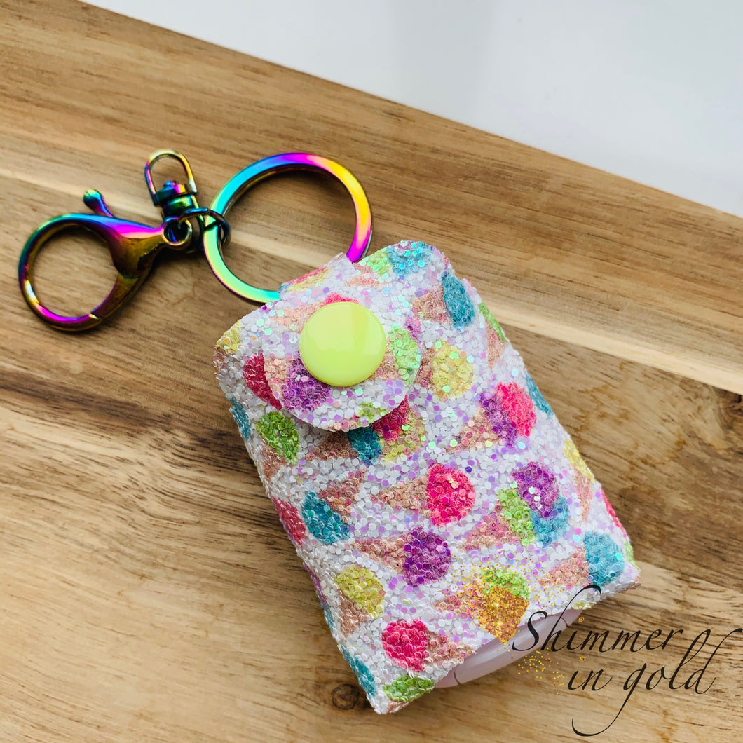 Iridescent Scoops Hand Sanitizer Holder