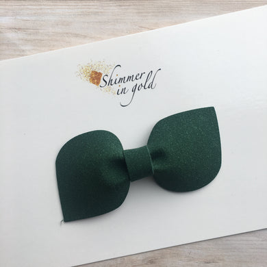 Hunter Green Faux Suede Kinsley Bow