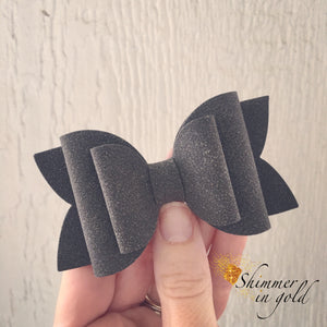 Stone Faux Suede Layered Lainey Bow