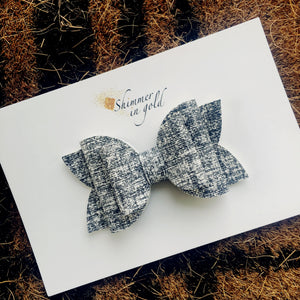 Gray Sweater Lainey Bow