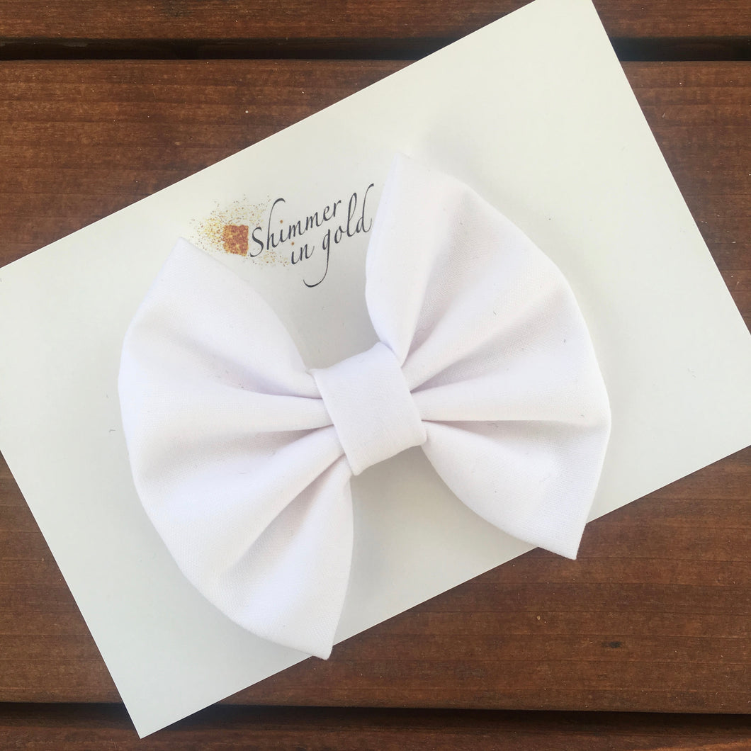 White Fabric Bow
