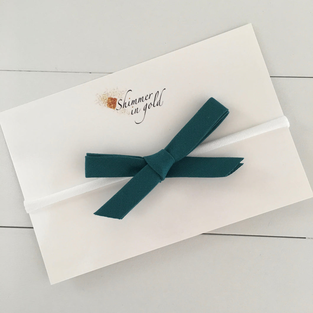Teal Hand Tied Bow