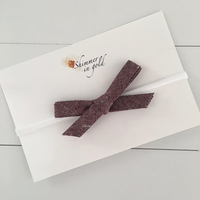 Burgundy Hand Tied Bow